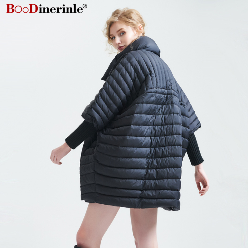 0f8a785e26d New High end Winter Women s Jacket Lightweight Half Sleeve Large Lapel White  Duck Down Coat Female Warm Loose Mantle Cloak YR123-in Down Coats from  Women s ...