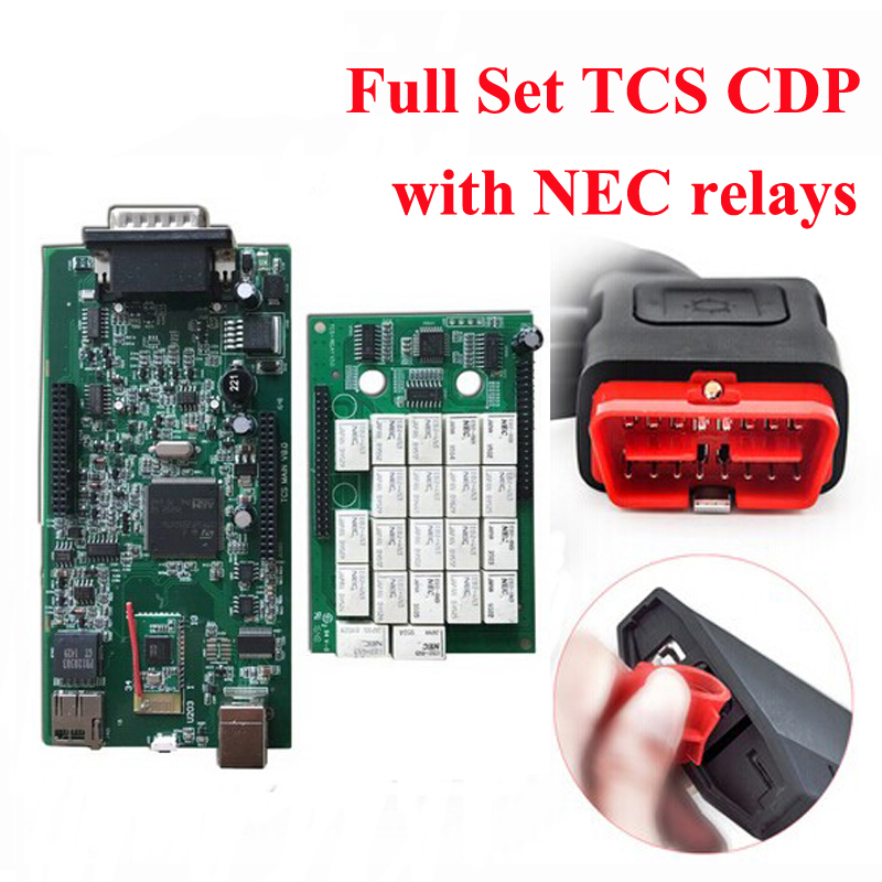 3Pcs/Lot 2016.R0/2015.R3 New VCI CDP With Bluetooth TCS SCANNER TCS CDP Pro Plus For Cars/Trucks +Carton Box by DHL Free