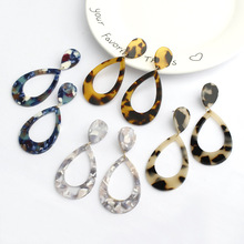 CHENFAN Korea pendant ear jewelry accessories package material earrings for women Color partial Round Earrings Handmade acetate
