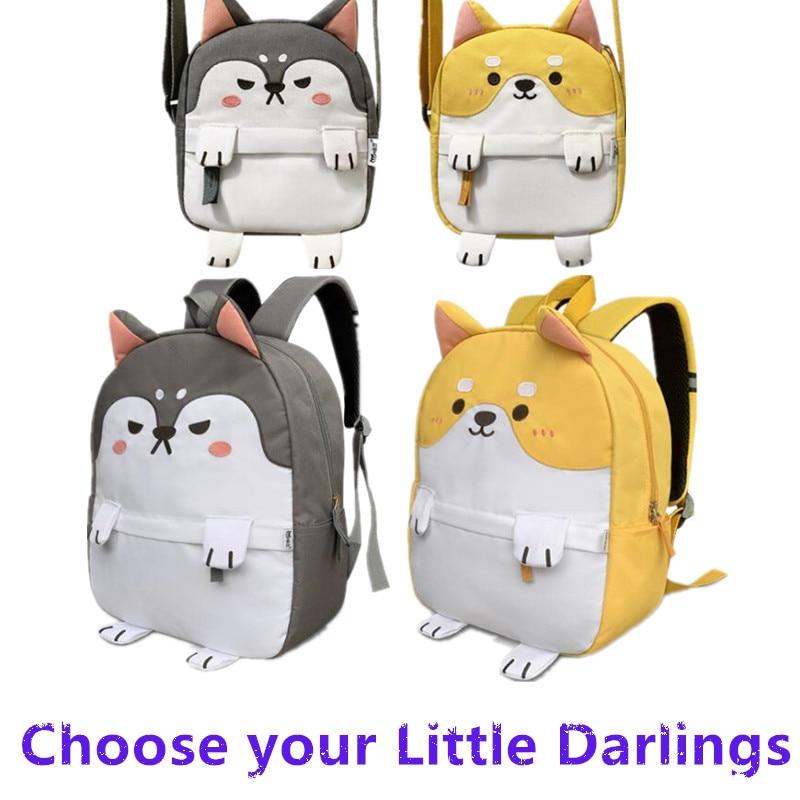 Hot New Cartoon Girl Backpack Cute Huskie Shiba Inu Maid Student Knapsack Single Shoulder Bag Chest Pack Funny Fancy Christmas