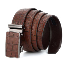 Luxury Designer Men's Leather Belts Faux Crocodile Striped Strap Automatic Buckles Belt Mens Cummerbunds cinturon hombre 42