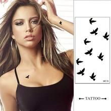 Temporary Tattoo Stickers Sexy Printing Waterproof Tattooing For Cage With Pigeons Delicacy Bird Pattern Lovers Tattoo