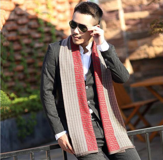 Winter luxury wool blend cashmere scarf