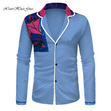 New fashion 2019 african men clothes africa mens casual long sleeve shirts dashiki clothing wyn875