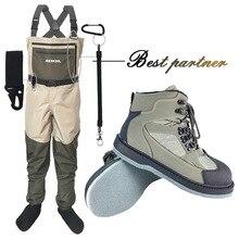 Fly Рыбалка одежда Waders Открытый Охота болотные штаны и обувь Aqua кроссовки комбинезоны войлочная Подошва Рыбалка сапоги рок обувь FXM1