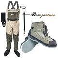 Pesca ropa botas de caza al aire libre vadeo pantalones y zapatos Aqua zapatillas de fieltro único pesca botas zapatos de Rock FXM1