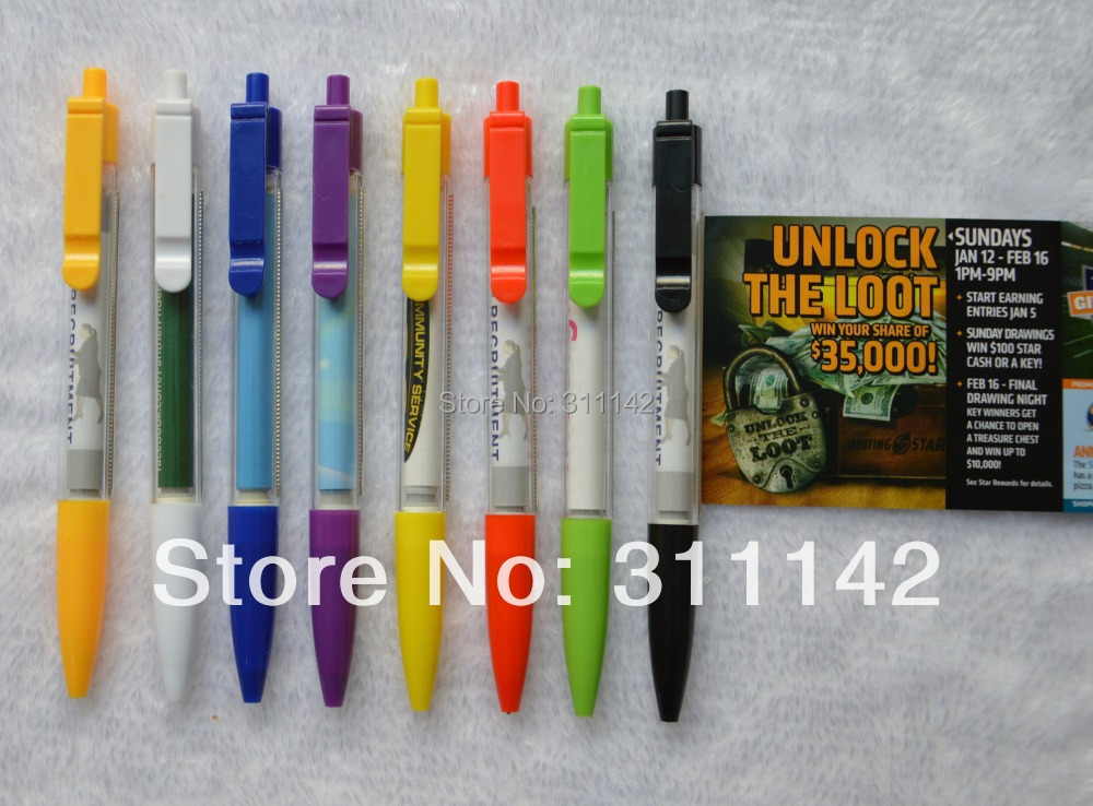2013 Promotional product advertising banner pen with free shipping by Fedex 1000pcs/lot