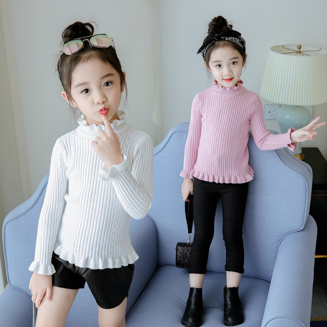 turtleneck sweater baby girls sweater fleece knitted long sleeve kids clothes autumn winter 2018 casual children school clothing ryeon winter autumn sweater dresses big size women turtleneck long sleeve loose casual grey sexy pullover knitted sweater jumper