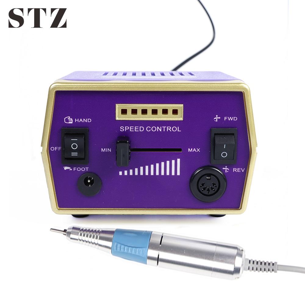 STZ 30000 tr/min professionnel électrique Nail Art manucure Machine ensembles appareil fraises pour ongles accessoires outils HBS-288