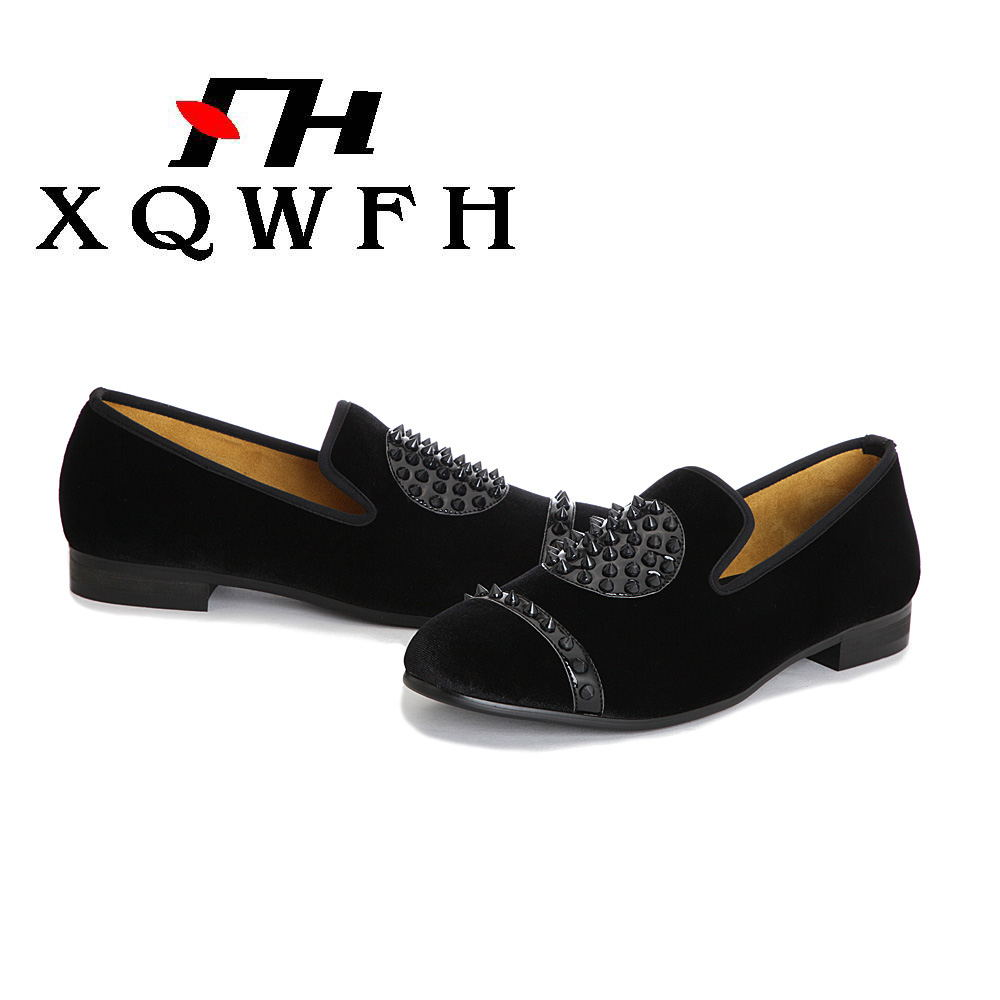 Velours Mocassins Main Chaussures Ongles Casual Xqwfh À De Nouvelle Mode La Italien Noir Hommes Robe Black zLqjpVSUMG