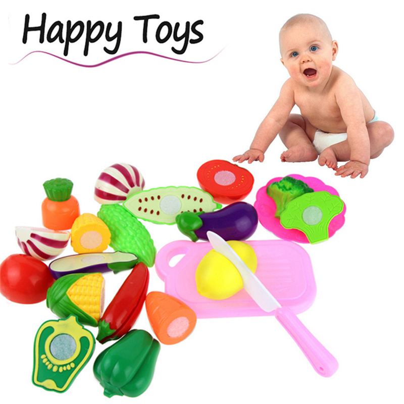 High Quality 13PC Cutting Fruit Vegetable Pretend Play Children Kid Educational Toy Wonderful Fun For Babies Drop Shipping