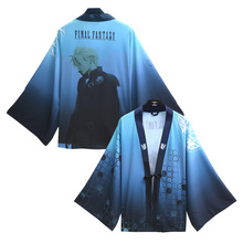 Game Final Fantasy Cloud Strife Cosplay Costume Spring Summer Cloak Bathrobe Halloween Party Kimono Costume Chiffon Coat New