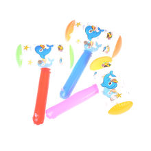 New 1pc Cartoon Inflatable Hammer Toy Funny Kid Air Hammer With Bell Children Blow Up Toys(China)