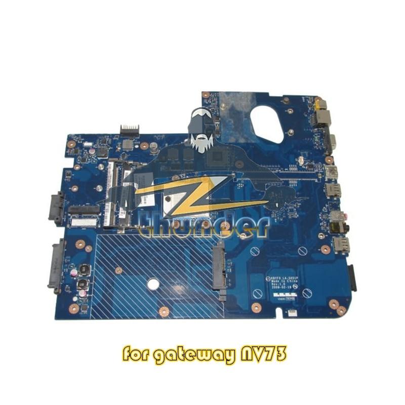 MBBDU02001 LA-5051P for gateway nv73 laptop motherboard ddr2 nokotion la 5051p mbbdu02001 mb bdu02 001 laptop motherboard for gateway nv73 m880g ddr2 mainboard tested warranty 60 days