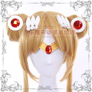 Japan Sailor Moon Tsukino Usagi Cosplay Prop wig Earrings Headwear Hairpin Headband Hair Clips Necklace Decoration Accessories