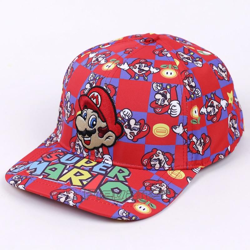 Super Mario Bros Mario Luigi Fashion Brand Snapback   Baseball     Caps   Cartoon Men Woman Adjustable Hip Hop Hat