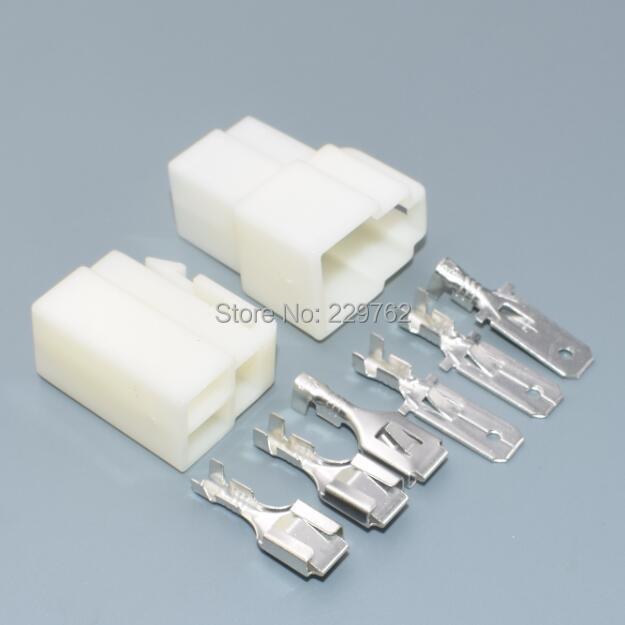 Shhworldsea 30 комплектов 6,3 мм 3 штифта аккумуляторная батарея электрического соединителя и pin жгут проводов Разъем Разъемы 6,3 автомобильный разъем