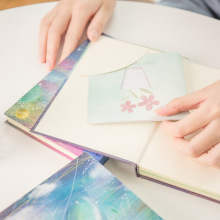 """Flying Whale"" Hard Cover Diary Beautiful Notebook Lined Dotted Blank Papers Journal Memo Notepad Stationery Gift"
