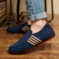 Sycatree 2019 Man Casual Shoes Walking Ventilation Male Men Red Bottom Canvas Slip Driving Shoes Moccasin Loafers Flat Shoes