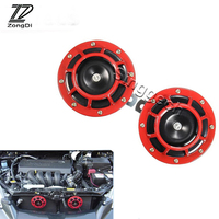 ZD 2X Car styling For VW Passat B5 B6 Polo Golf 4 5 6 Chevrolet Cruze Lada Granta RAM Air Red Horn alarm loudspeaker Blast Tone