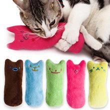Juguete interactivo con hierba gatera para gatos, juguetes divertidos de felpa para gato y gatitos, con dientes de amoladora para masticar o mascar con las garras, con menta vocal para mascotas, caliente