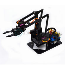 DIY Acrylic robot arm robot claw arduino kit 4DOF learn kit(China)