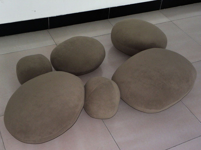 Brown Stones Pillow  A SET(6 Pieces) OF NEW BIG PRETTY LIVING STONES