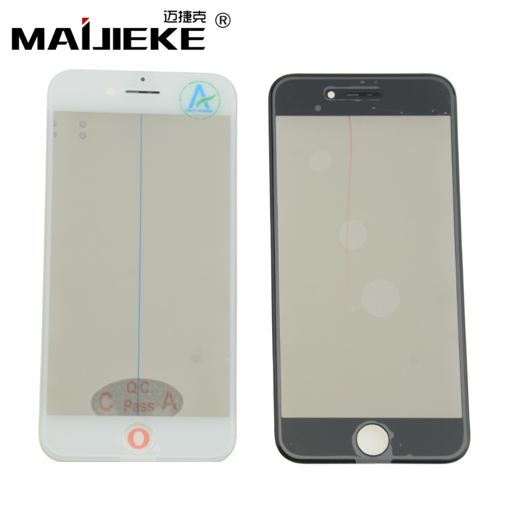 MAIJIEKE 4 in 1 Cold Press Front Screen Outer Glass Frame OCA Polarizer For iPhone 8