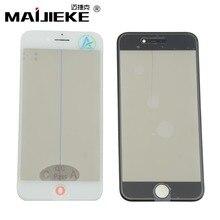MAIJIEKE Pantalla de cristal exterior 4 en 1 con prensa en frío, Marco OCA, para iPhone polarizador 8, 7, 6, 6s plus, 5 5s
