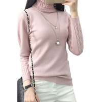6 Colors Sweaters Women 2017 Hot Sale Winter Turtleneck Long Sleeve Pullovers Knitted Sweater Female Warm