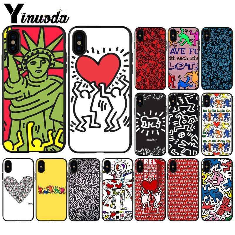 Yinuoda Art Keith Haring Graffiti Slim Anti Broken Tpu Phone