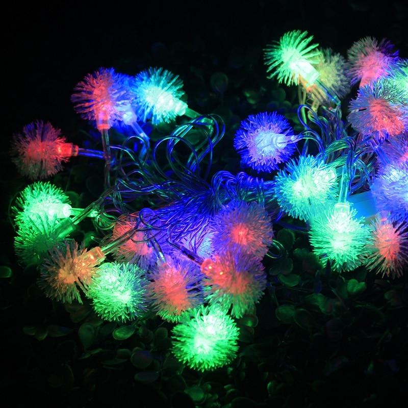 Us 30 22 20 Off 10m Nut Snow Globe Lighting Ball Fairy Lights Garden Lamp Party Wedding Decoration Curtain Eu Plug New Year H 13 In Holiday