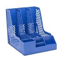 DELI 78980 file holder box file block Supplies stationery 4 file holder a4 hanaper box data rack desktop storage shelves
