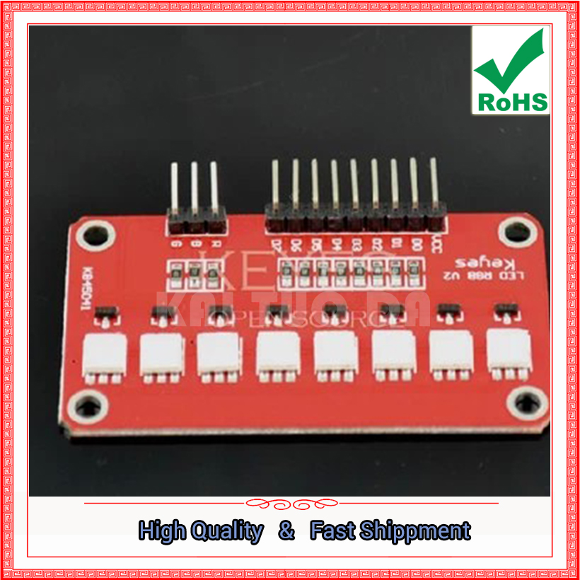 Free Shipping 2pcs 5050 RGB Full Color LED Flow Light Module / Single Chip Flow Light UNO-A.D.N BOARD (C5A4