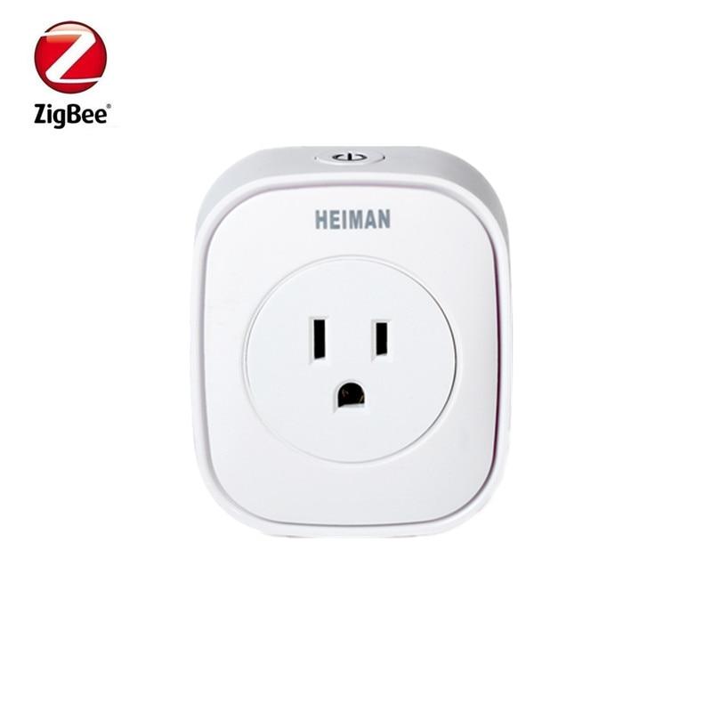 Heiman EU US UK Zigbee Power Metering Plug Control Power On Off Socket Smart Home Devices Control By Smart Zone App