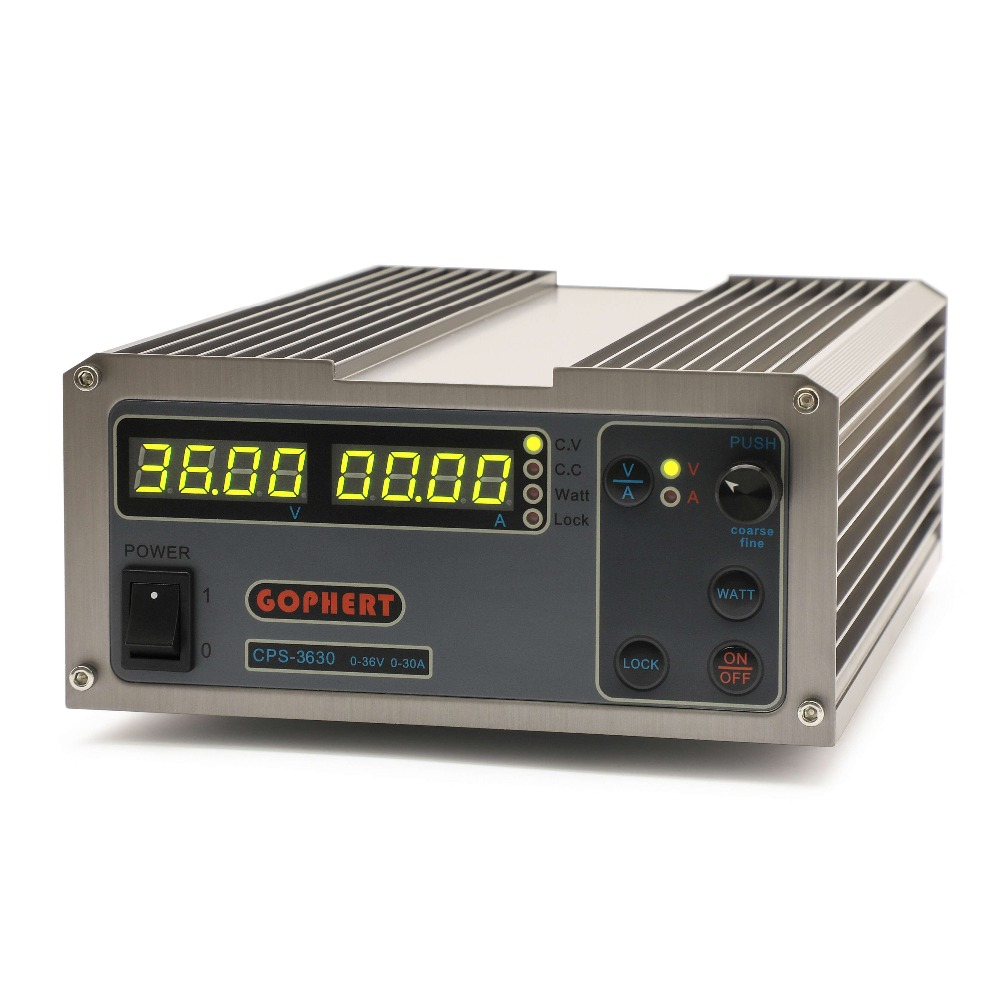 CPS 3630 0 36V 0 30A adjustable DC power supply constant voltage power supply MCU PFC compact laboratory switching power supply