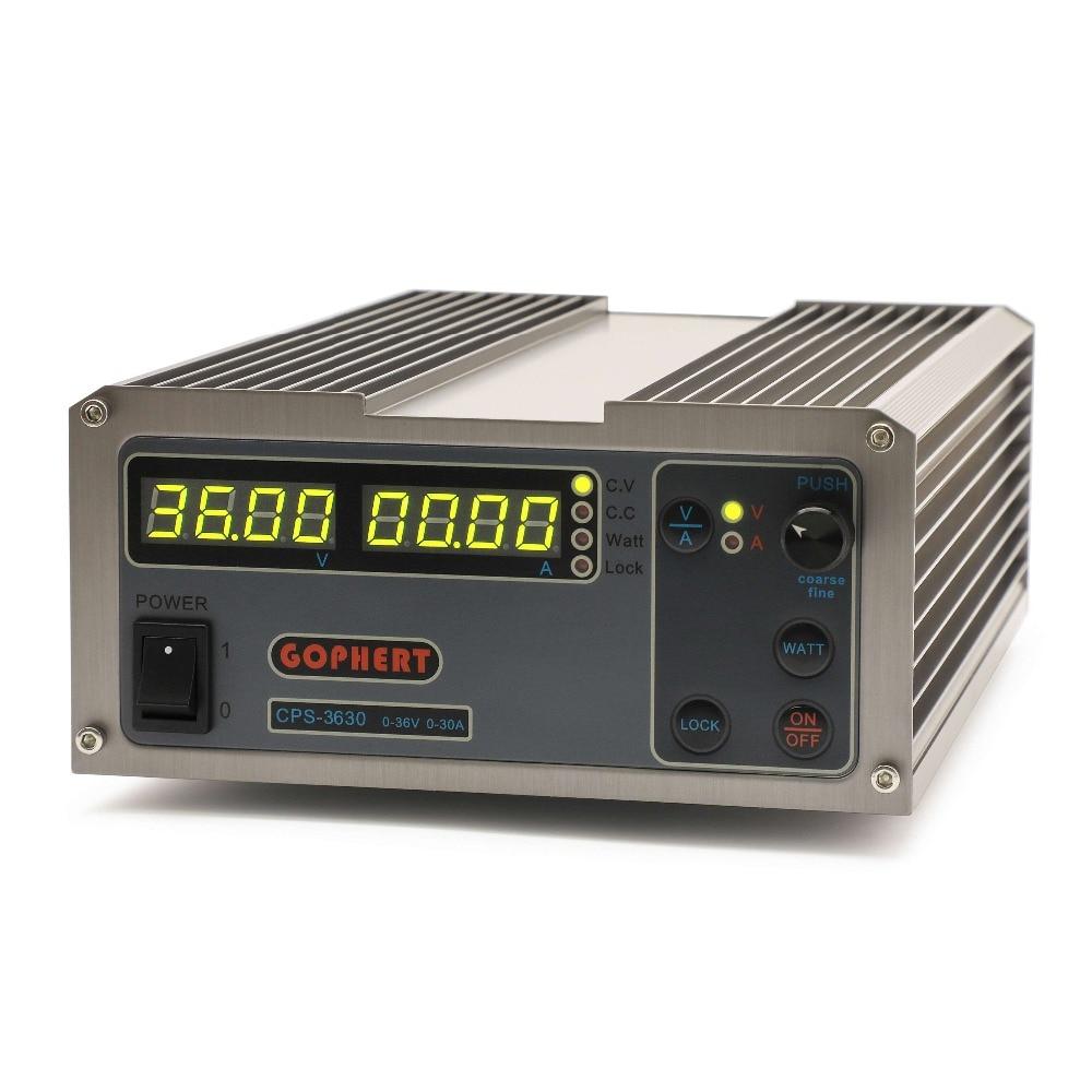 CPS 3630 0-36V 0-30A alimentation cc réglable alimentation à tension constante MCU PFC alimentation à découpage de laboratoire compacte