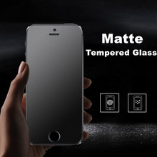 No Fingerprint Premium Tempered Glass Screen Protector For iPhone 4 4S 5 SE 5S 5C Frosted Glass Protective Matte Anti-Glare Film