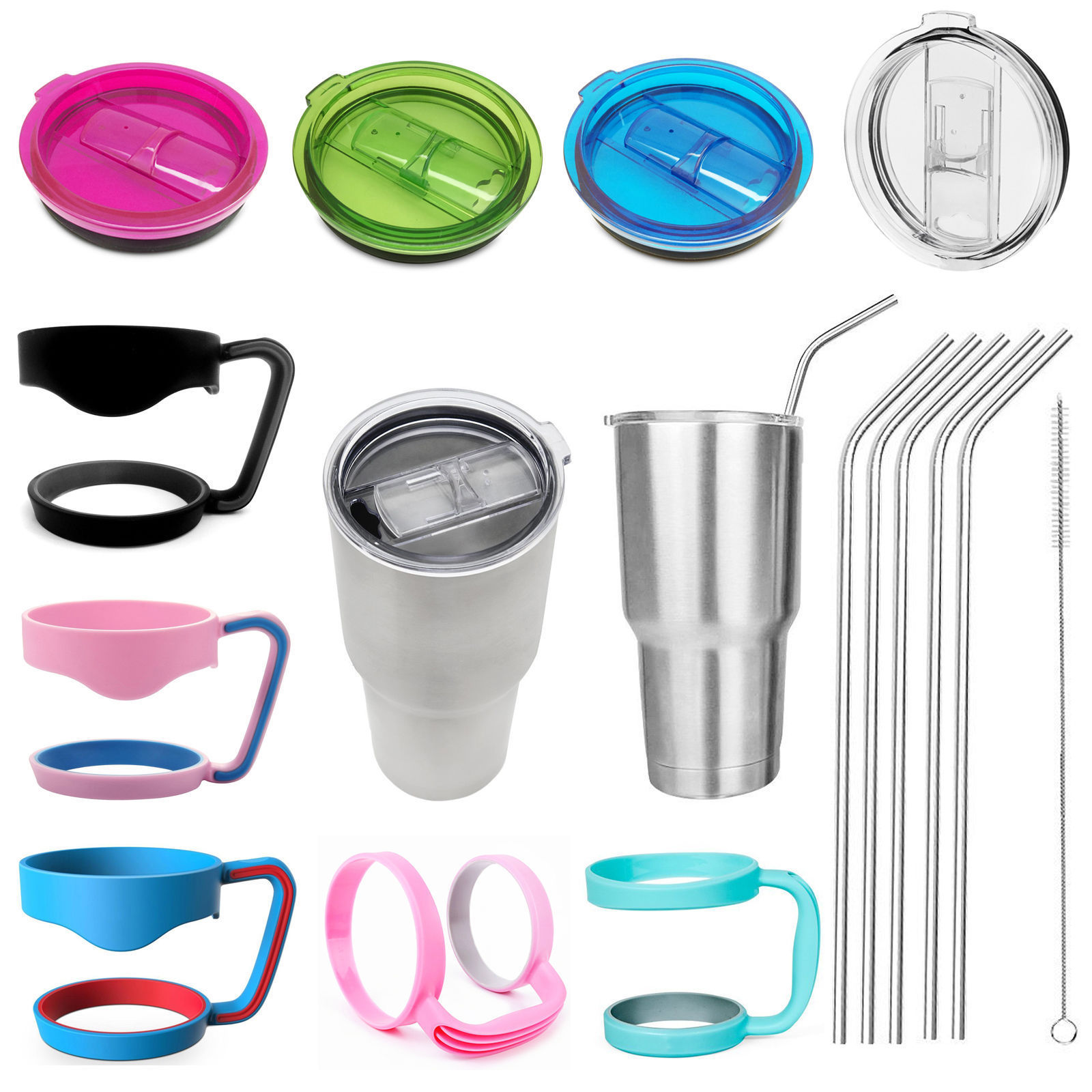 <font><b>NEW</b></font> Replacement Cup Lid <font><b>Handle</b></font> Holder <font><b>For</b></font> 30 oz <font><b>Yeti</b></font> <font><b>Rambler</b></font> Rtic <font><b>Tumbler</b></font>