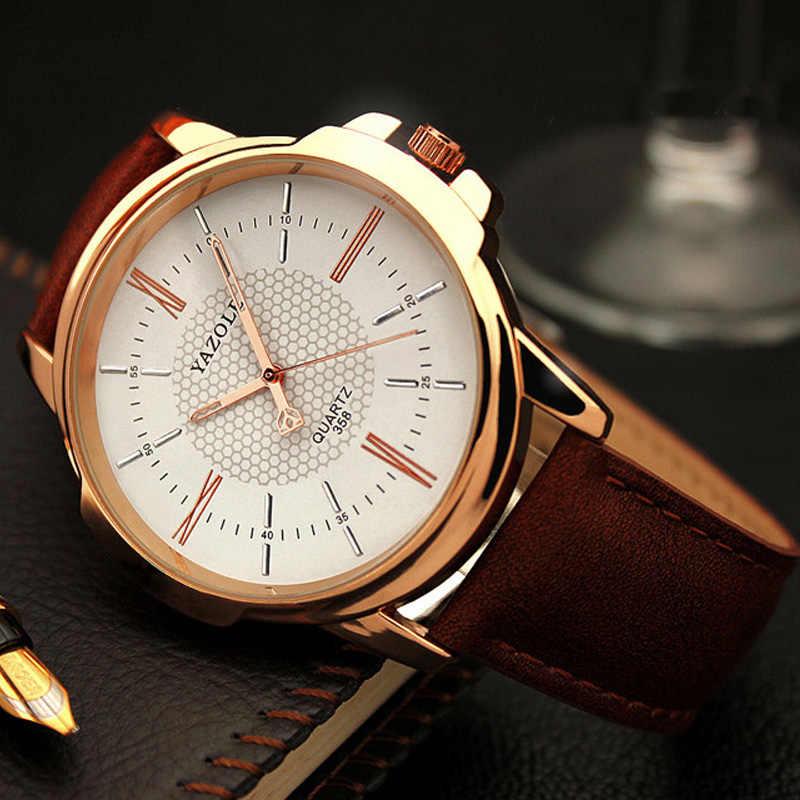 0081806790b2 Reloj de pulsera de oro rosa yazol para hombre 2018 marca superior de lujo  famoso por el reloj de cuarzo para hombre reloj de pulsera de oro