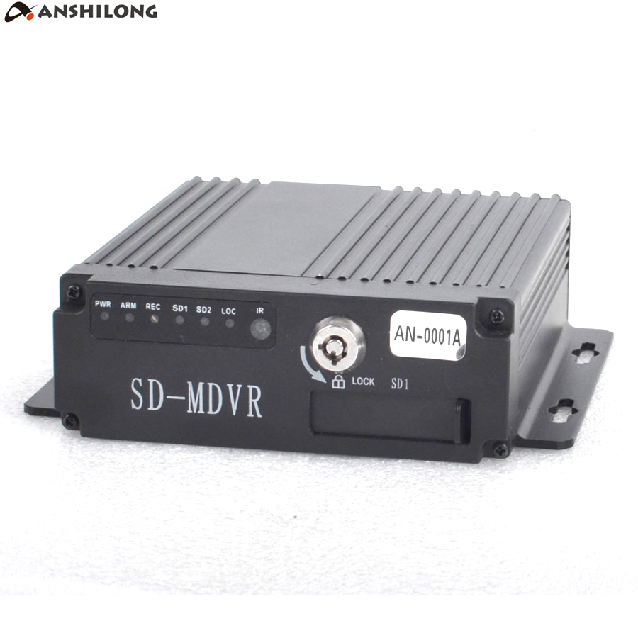 ANSHILONG 8 36V 720P MINI Realtime SD Car Mobile DVR 4CH Video Audio Input with Remote