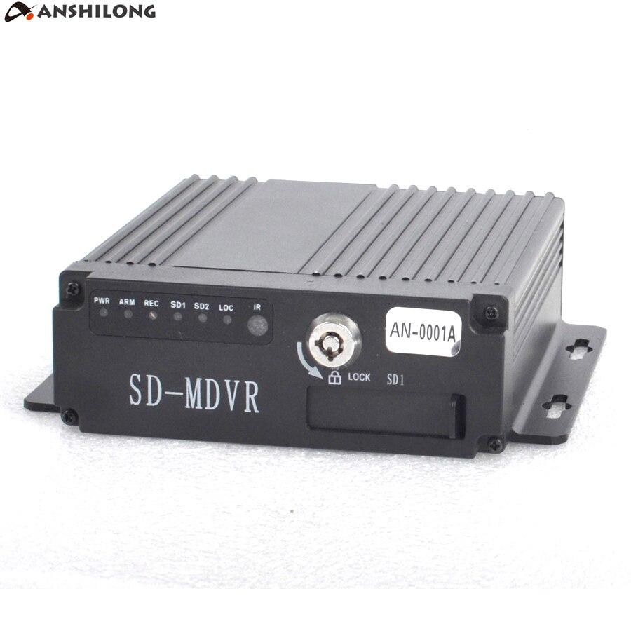 ANSHILONG 8-36 V 720 P MINI En Temps Réel SD Voiture Mobile DVR 4CH Vidéo/Audio D'entrée avec Télécommande contrôleur Encrption