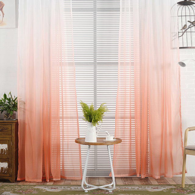 Tulle Curtains Printed Kitchen Decorations Window Treatments American Living Room Divider Sheer Voile Curtain Single