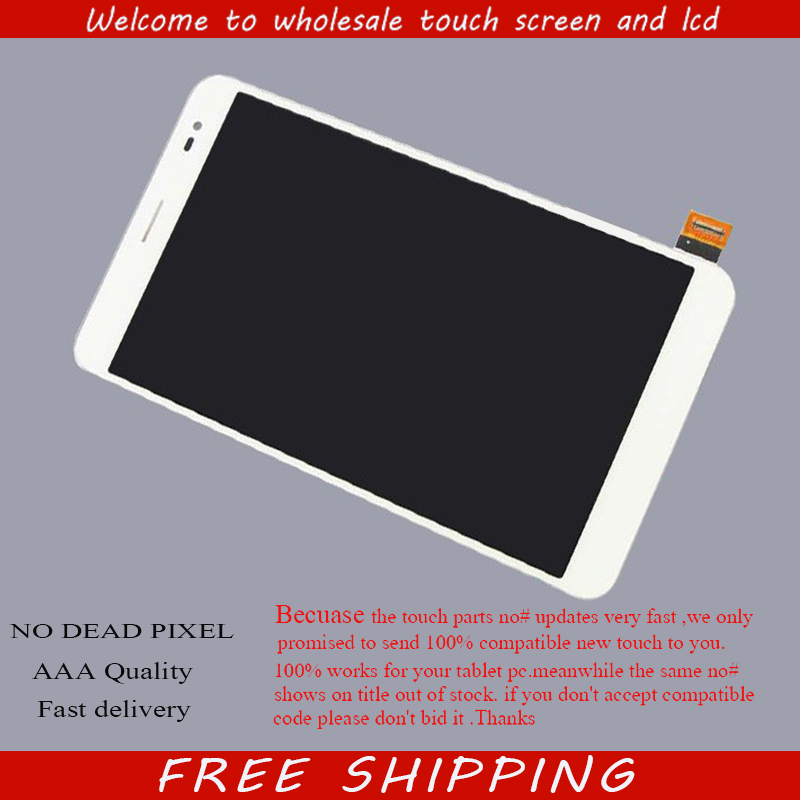Black/White LCD DIsplay + Touch Screen Digitizer Assembly For Honor X1 / Mediapad X1 7D-501U 7D-503L D-504L Free Shipping for thl t11 lcd screen display with touch screen digitizer assembly by free shipping white color hq 100% warranty