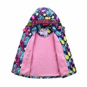 Image 5 - Waterproof Index 5000mm Warm Baby Girls Jackets Child Coat Polar Fleece Children Outerwear For 3 12 Years Old Winter Autumn