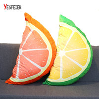 Yesfeier 85CM Creative 3D Fruit Pillow Sofa Car Cushion Plush Toys Fruit Shape Pillow Home Decor Birthday Gifts