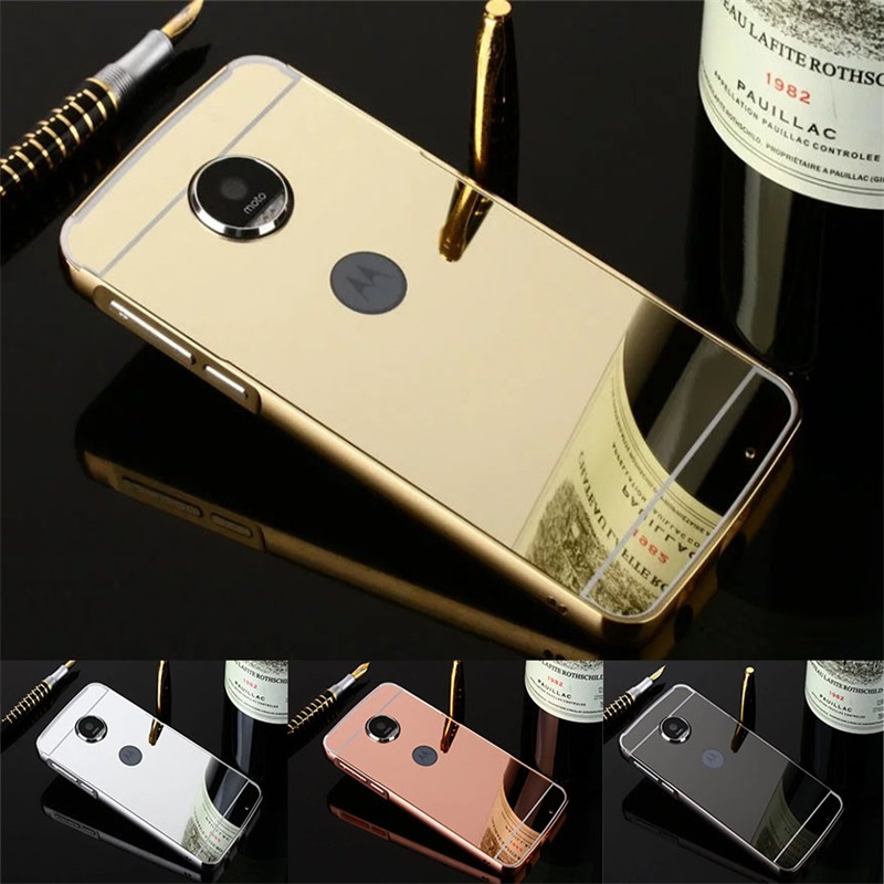Bumper case For Motorola Moto G5 Cover Luxury Mirror Aluminum frame Plating PC Cover For Motorola Moto G5 Coque Houring Shell