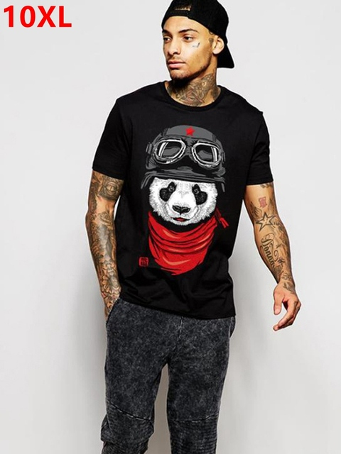 plus size fat clothing mens  short sleeve 8xl o neck lycra cotton short sleeve t shirt Short sleeve T shirt 155 cm chest