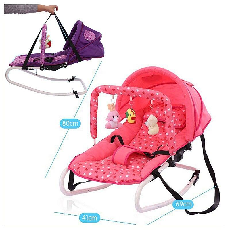 Bébé pliant chaise à bascule nouveau-né berceau balançoire inclinable videur pépinière chaise berçante bébé infantile siège videur Rocker salon