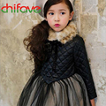 2016 New Autumn Winter Girls Children Dress Chiffon Geometric Bow Turn-down Collar Ball Gown Long Sleeve Dress for Cute Girls